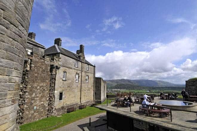 Esplanada no castelo de Stirling