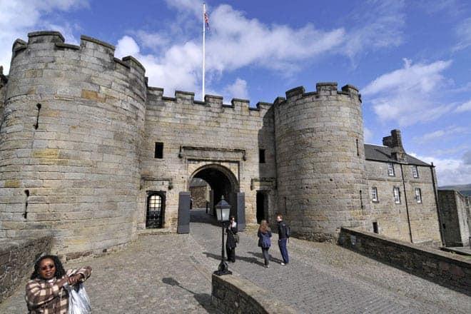 Entrada para o castelo de Stirling