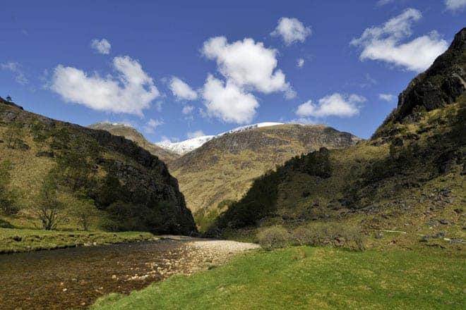 Glen Nevis, exemplo da maravilhosa paisagem das terras altas escocesas
