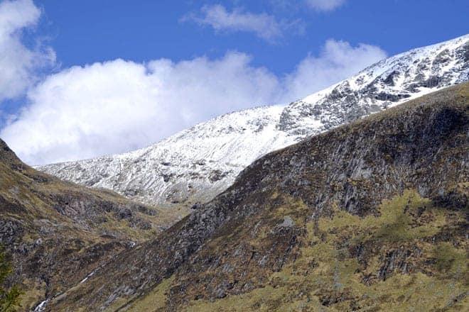 Os cumes gelados de Ben Nevis