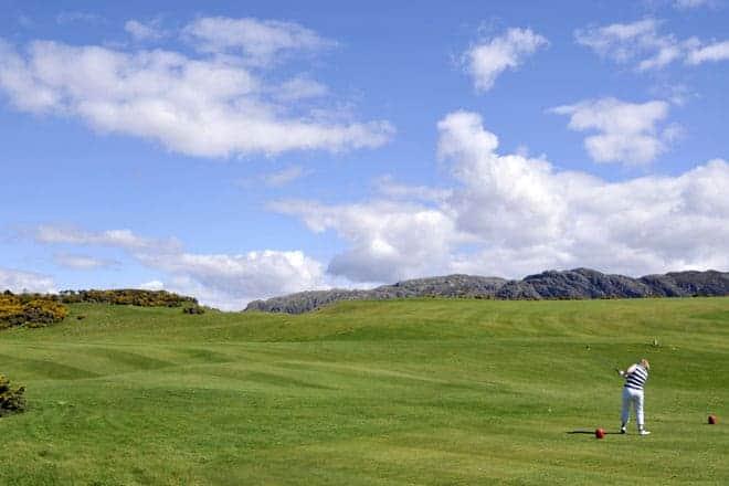 Golfe nas terras altas da Escócia