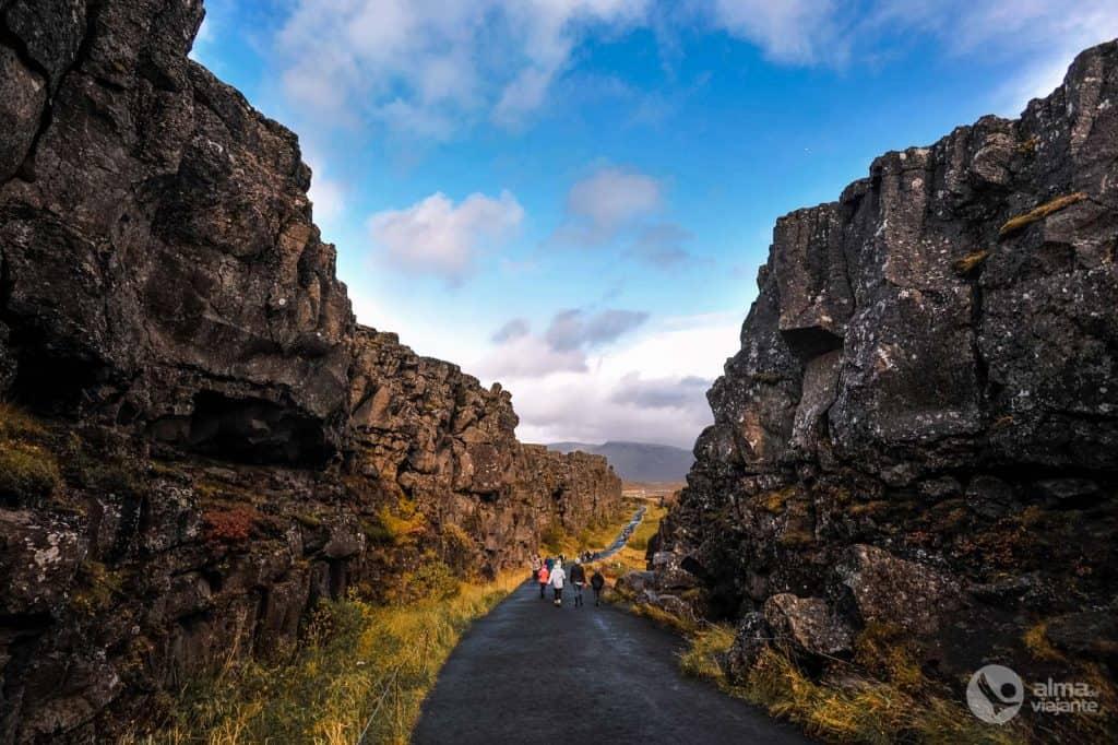 Heimsókn Þingvellis, Ísland