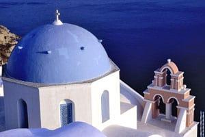 A ilha Thirá (Santoríni), nas Cíclades