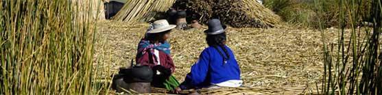 Ferðalög: Los Uros, Titicaca-vatn - um heiminn
