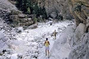 Trekking no desfiladeiro de Samaria