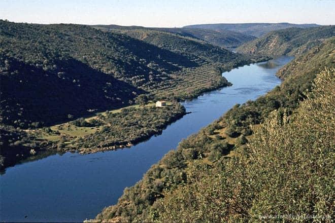 Vista do rio Tejo, Parque Natural do Tejo Internacional