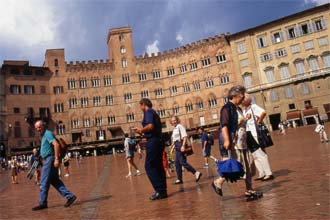 Piazza del Campo em Siena, Itália