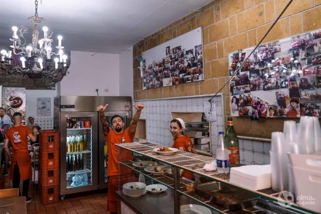 Restaurante Trattoria da Nennella, no Bairro Espanhol
