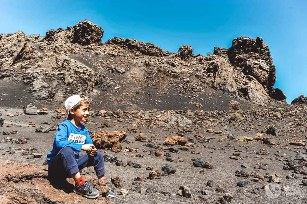 Vulcão do Corvo com crianças