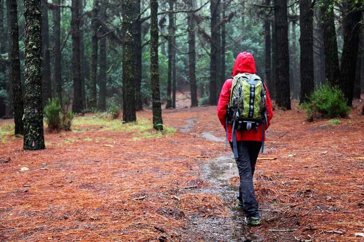 Trekking com chuva - impermeável