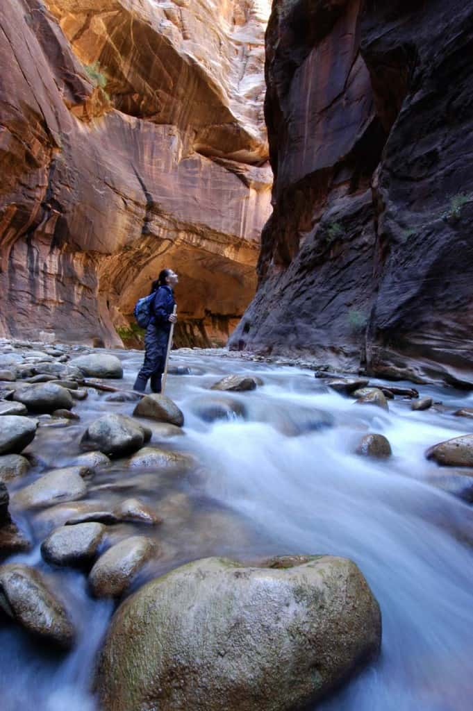 Trekking no rio Virgin, Zion