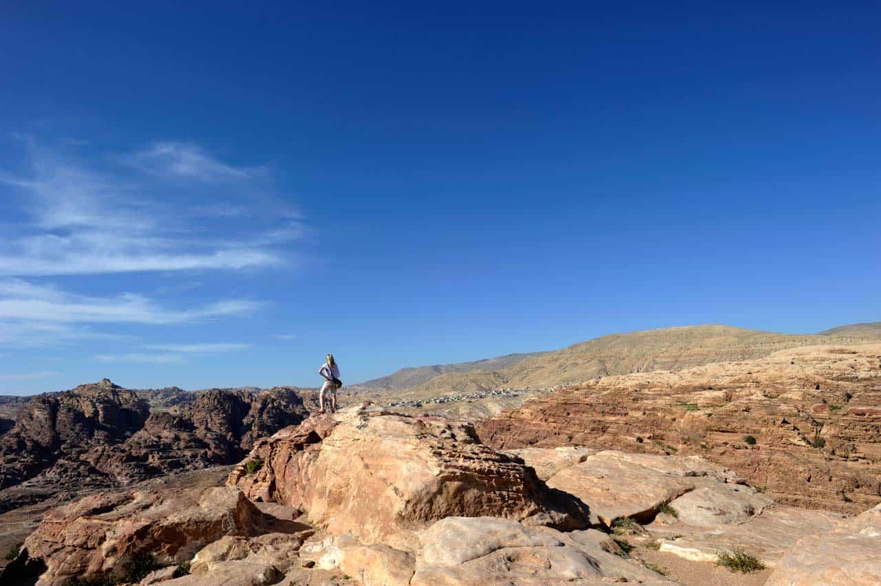 Turista em Petra