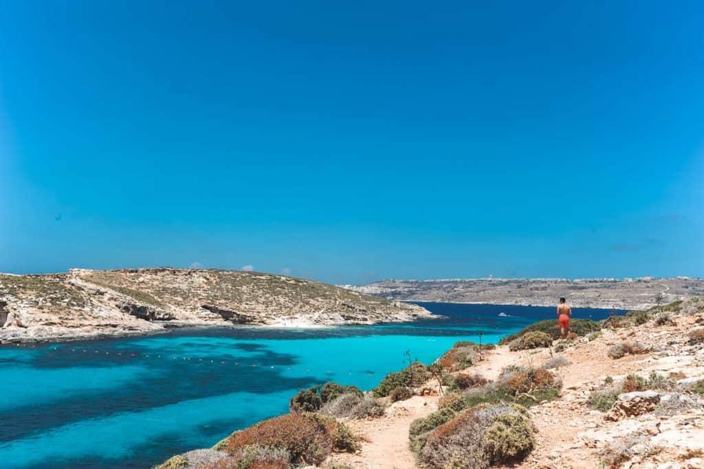 Comino atrakcie: Modrá lagúna