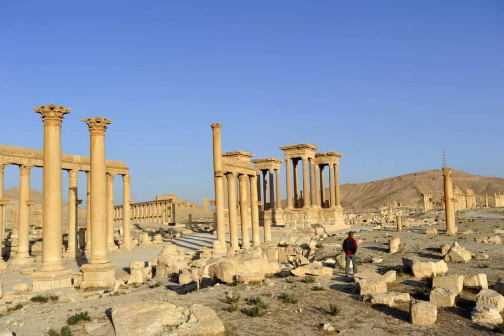 Turista em Palmira