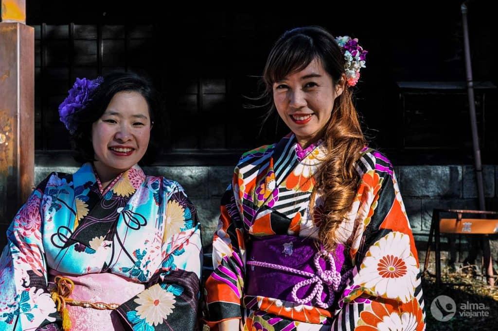 Turistas japonesas em Nikko