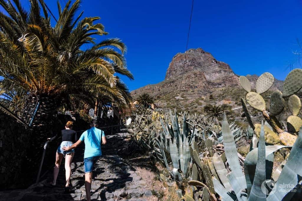 Turistas em Masca