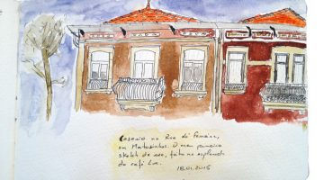 Segundo sketch: casario no centro de Matosinhos