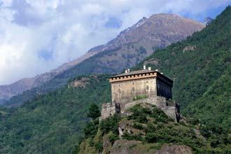 Castelos no vale de Aosta, Itália