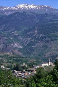 Aldeia tradicional de Aosta, Itália