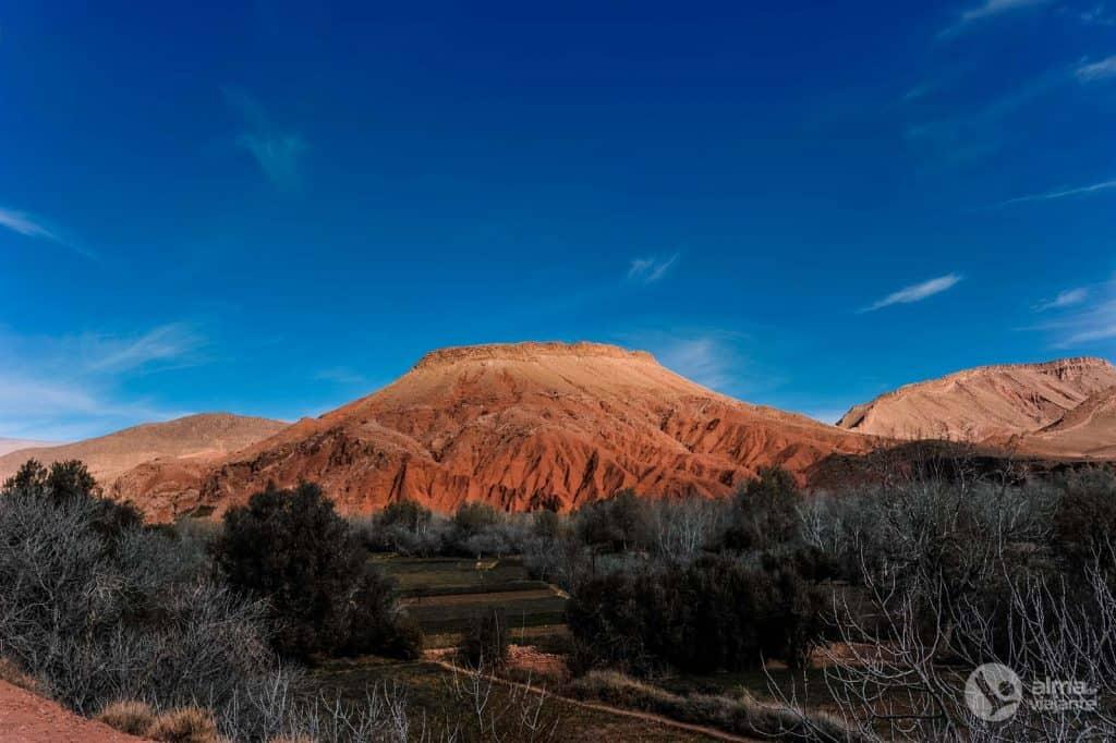 Valle del paesaggio del Dades, in Marocco