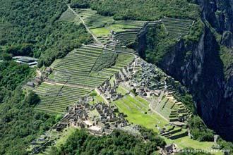 Machu Picchu visto do Wayna Picchu, Peru