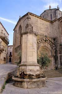 Vista da povoação de Vallbona, Espanha
