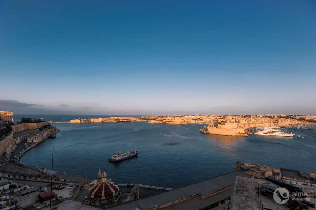 Roteiro de viagem a Malta: Upper Barrakka, Valletta