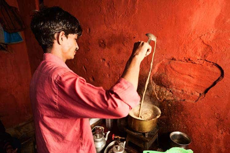 Vendedor de chá indiano