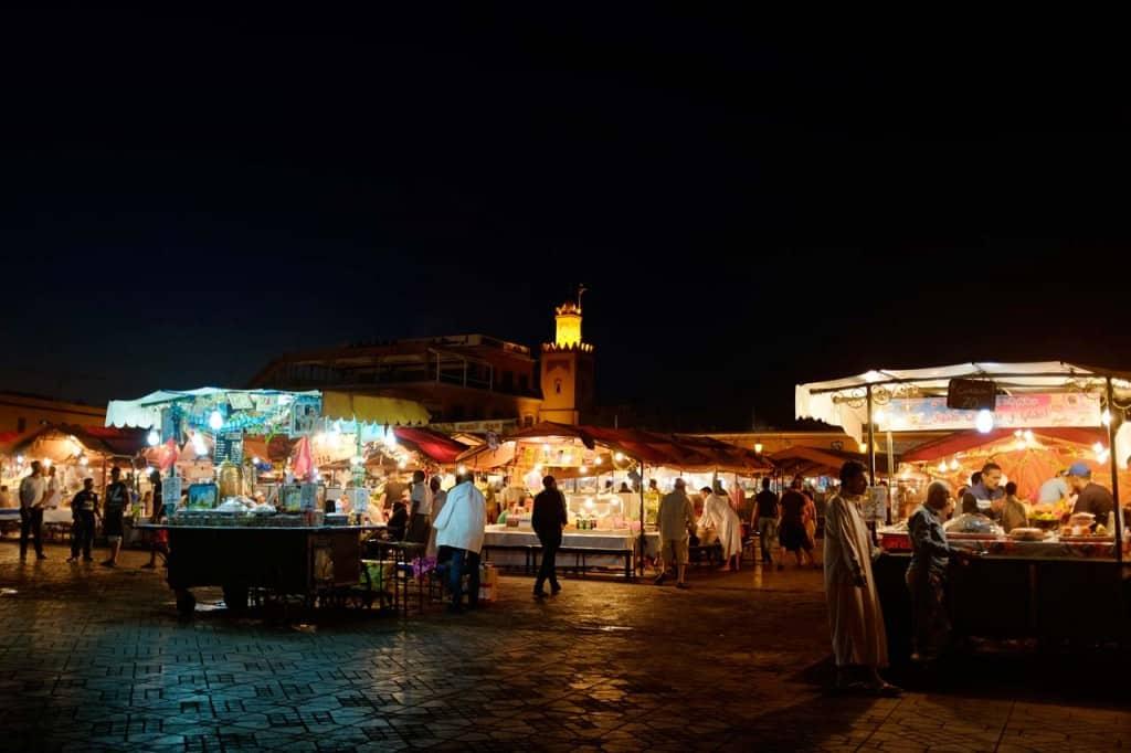Cose da fare a Marrakech: piazza Djemaa el-Fna