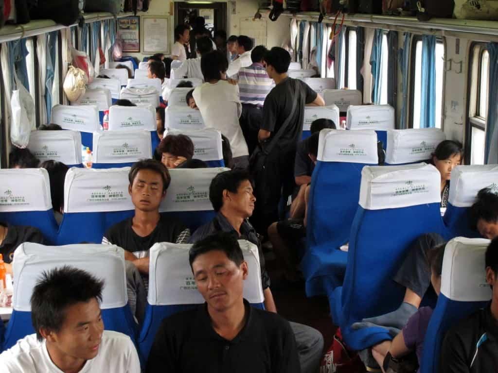 Viagem de comboio na China