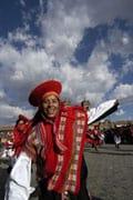Parader under Inti Raymi, Plaza de Armas, Cuzco, Peru