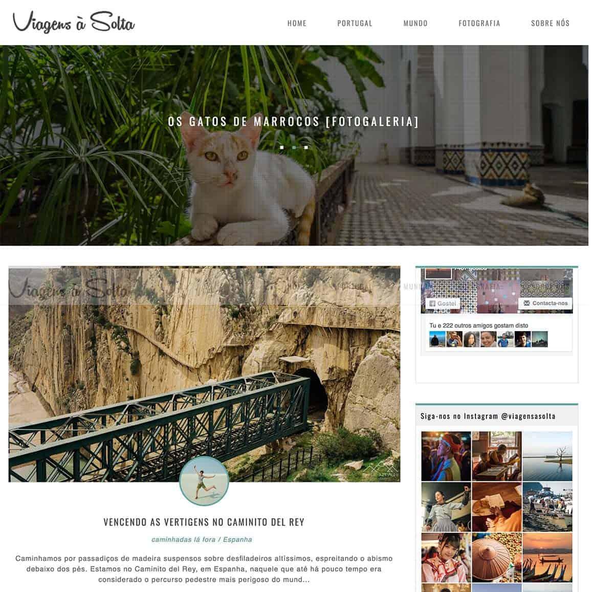 Blog: Viagens à solta
