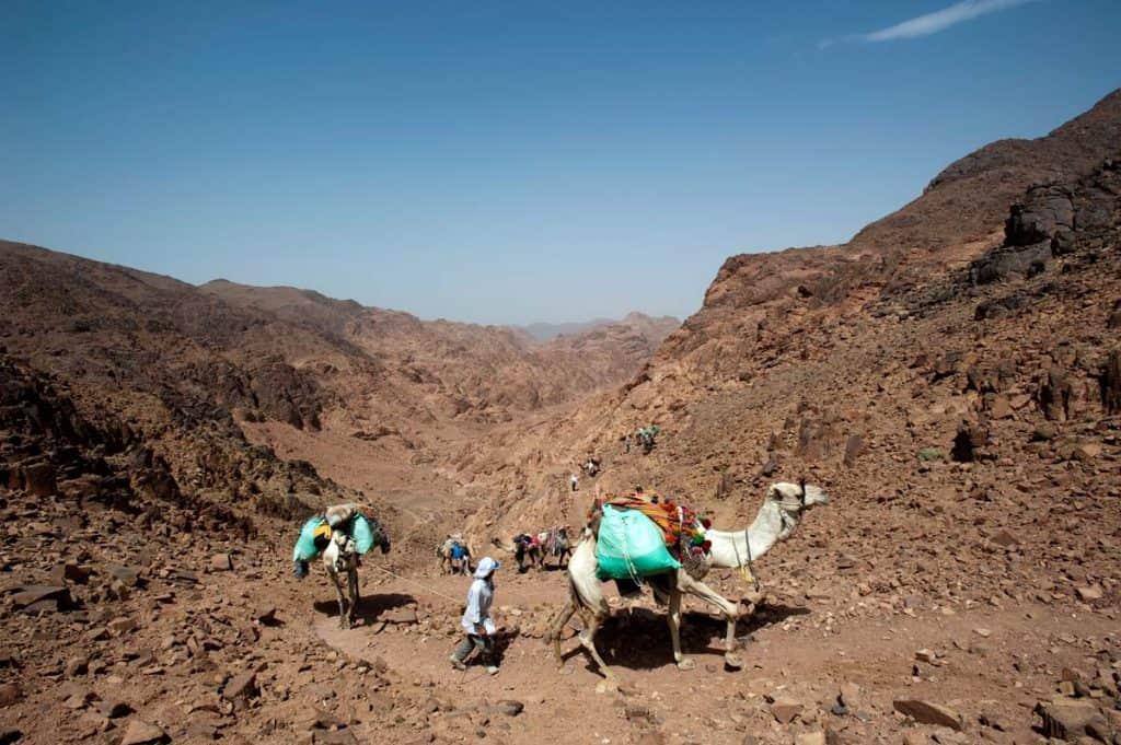 Trilho perto do monte Sinai