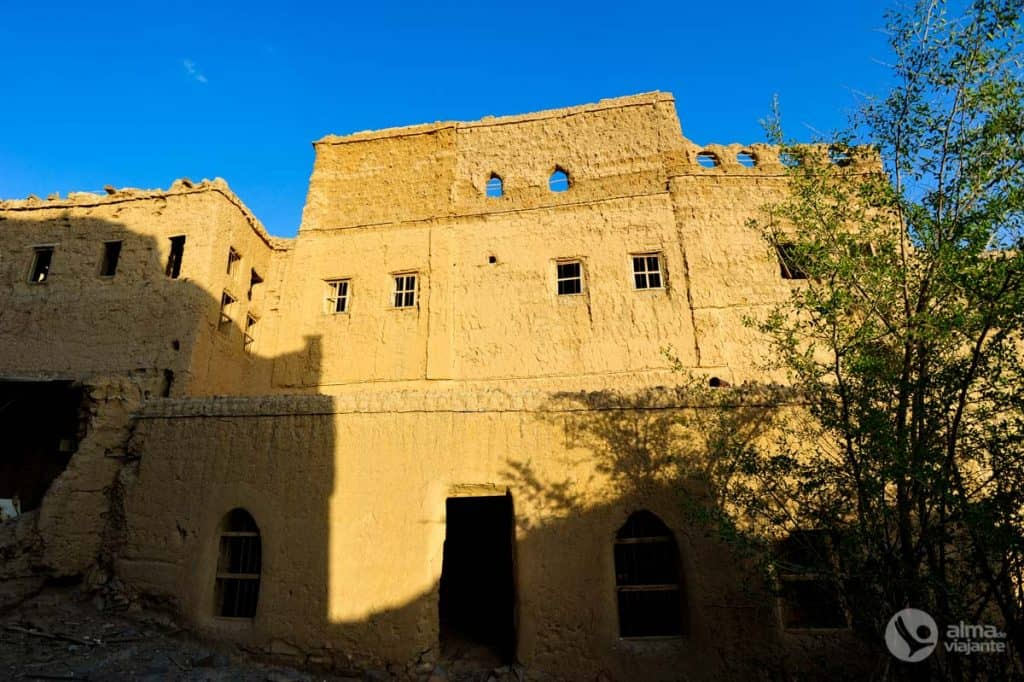 Casas de abobe em Al Hamra