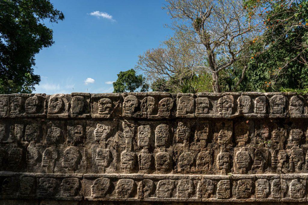O que visitar em Chichén-Itzá: Plataforma dos Crânios