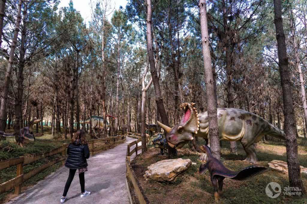 Visitar Dino Parque com crianças