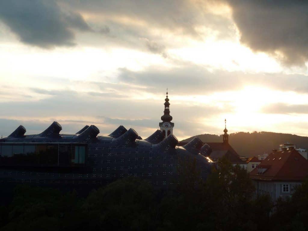 Museu Kunsthaus, em Graz