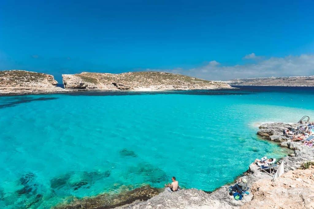 Praia Lagoa Azul, Comino