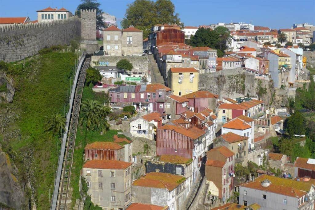 A Muralha Fernandina e o casario dos Guindais, Porto