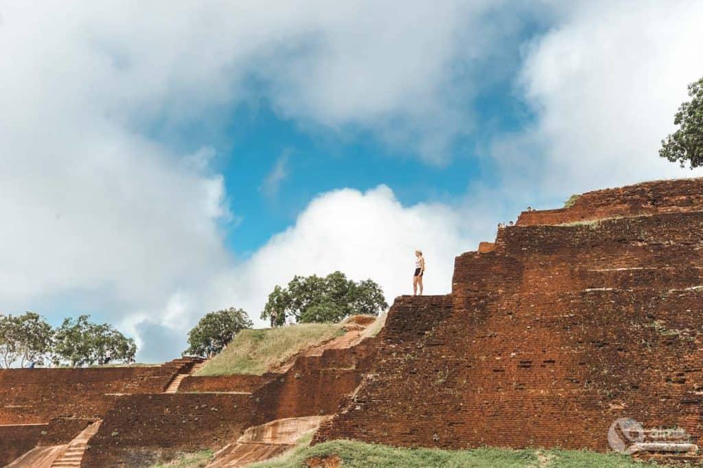 No topo de Sigiriya
