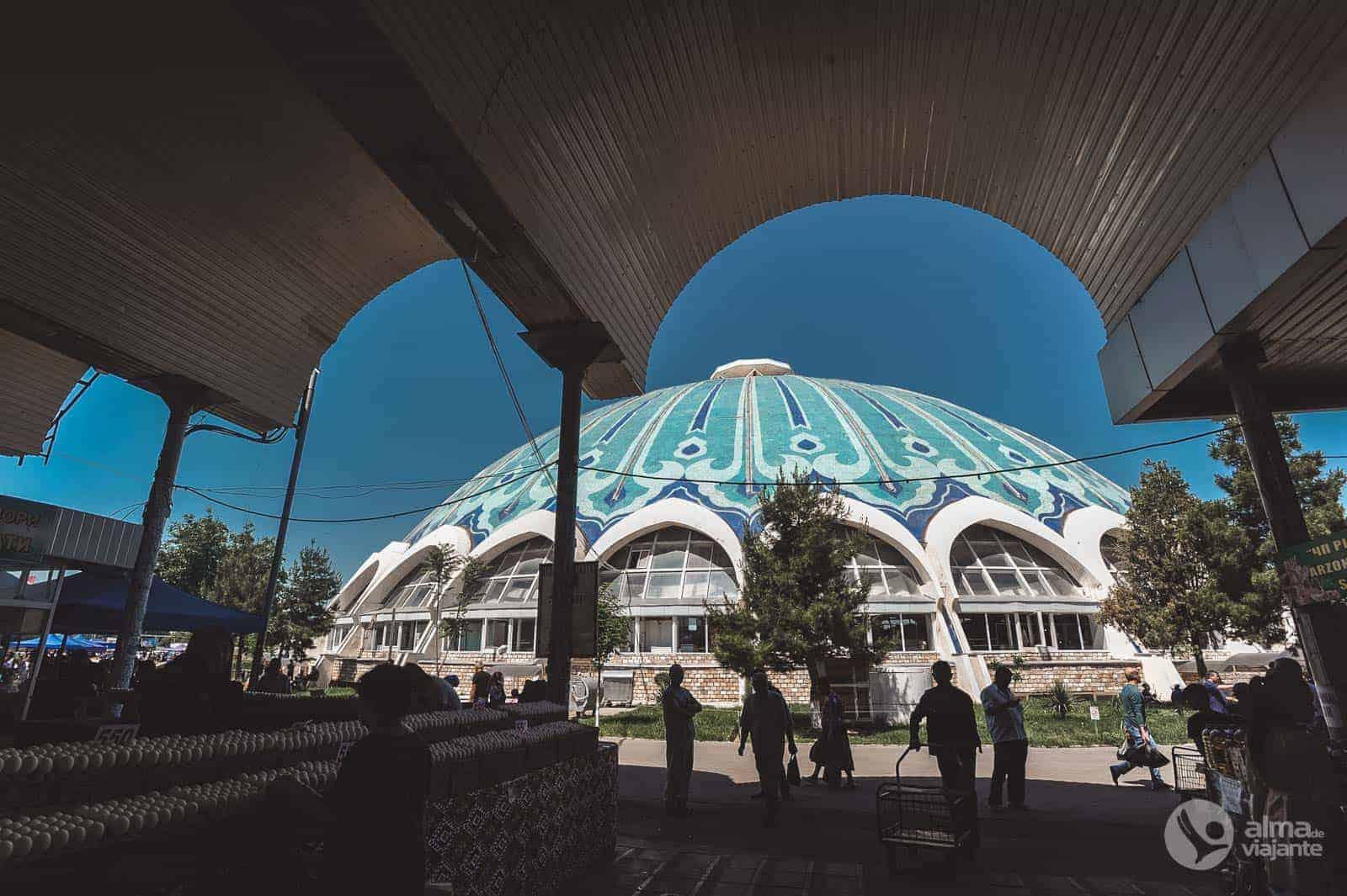 Bezoek Tasjkent: Chorsu bazaar
