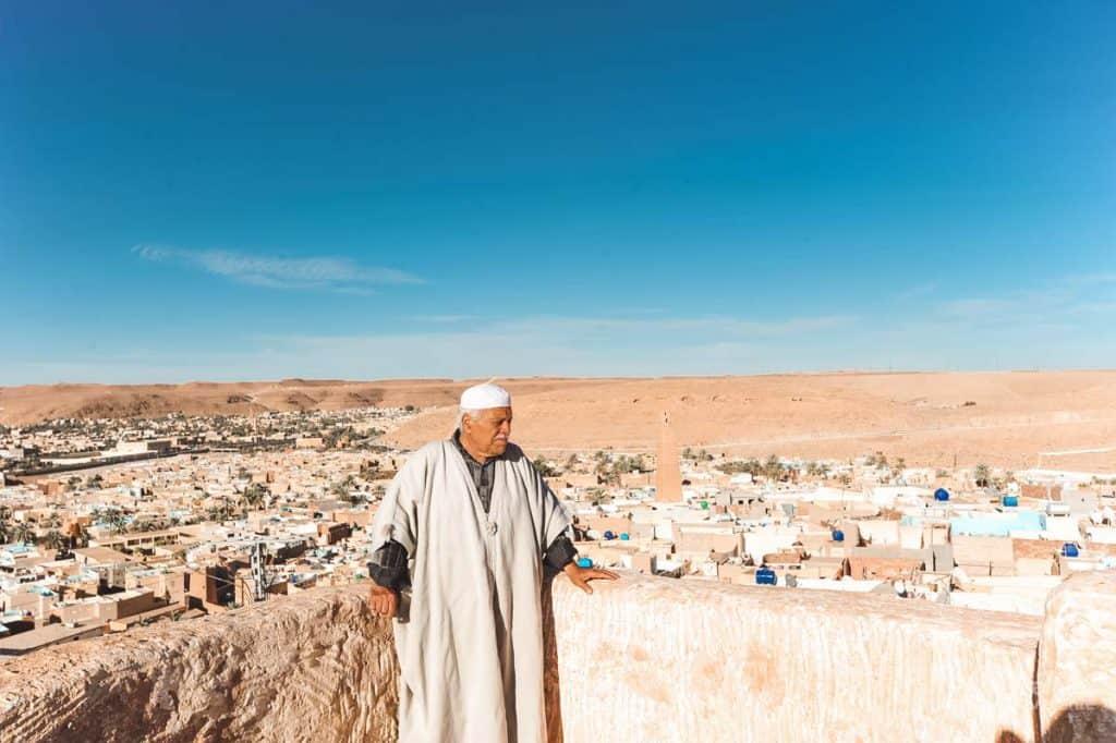 Vista de Ghardaia, Argélia