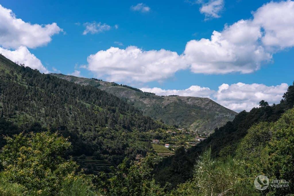 A aldeia de Sistelo vista do Trilho dos Socalcos