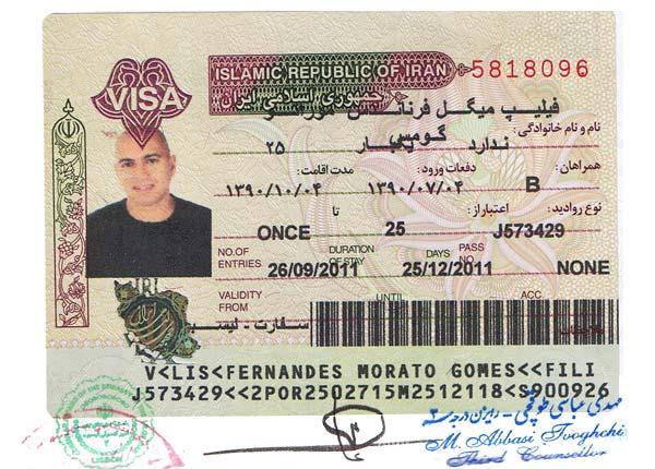 Visto de entrada no Irão