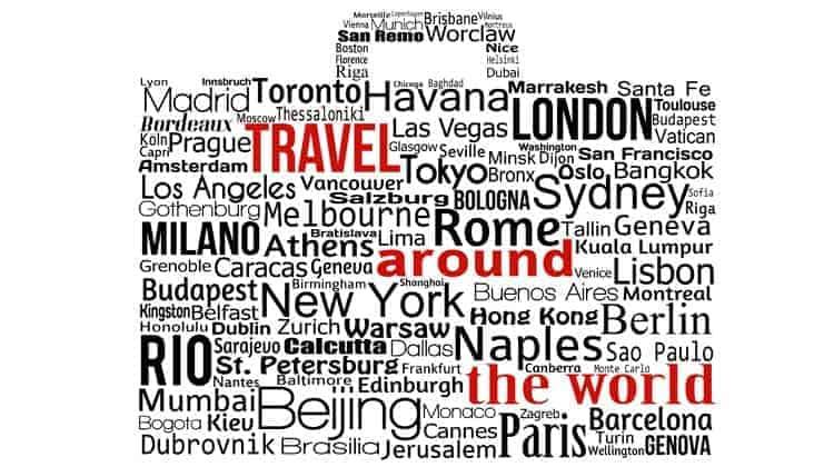 Bilhetes volta ao mundo - ilustração