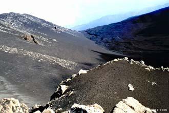 Vista do vulcão Etna, ilhas Eólicas, Itália
