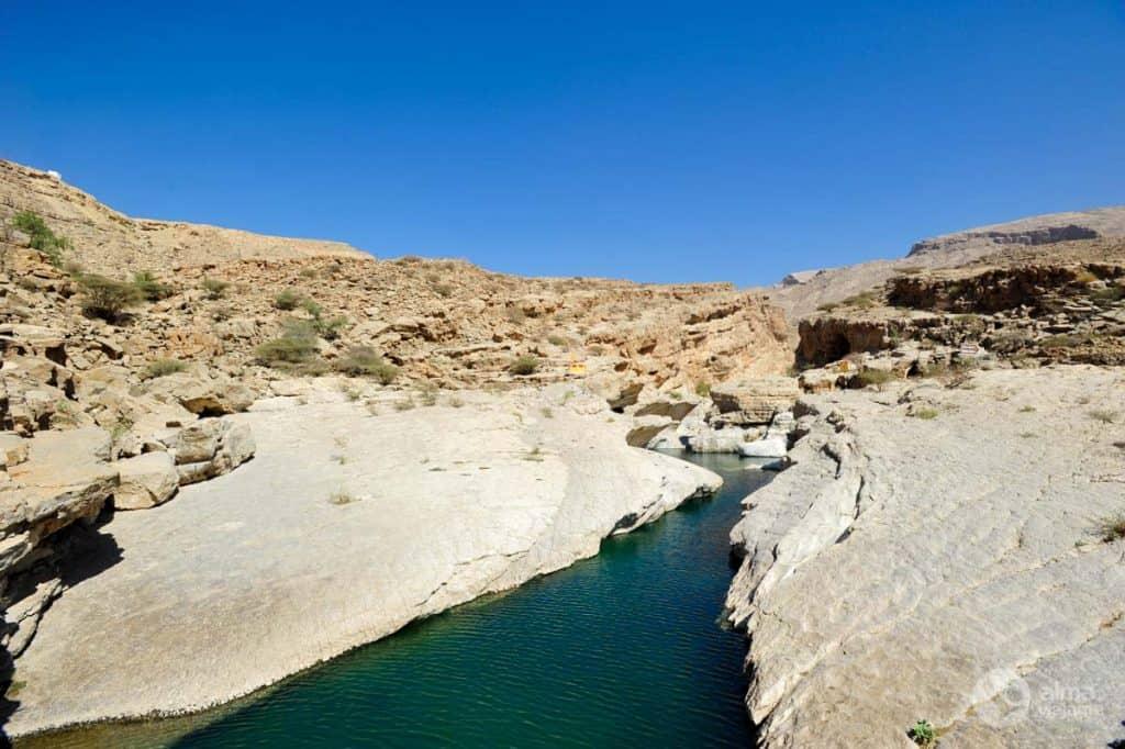 Canyon em Wadi Bani Khalid