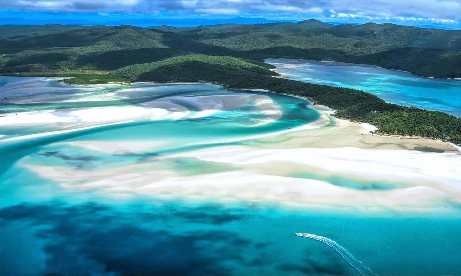 Praia Whitehaven , Whitsunday, Austrália