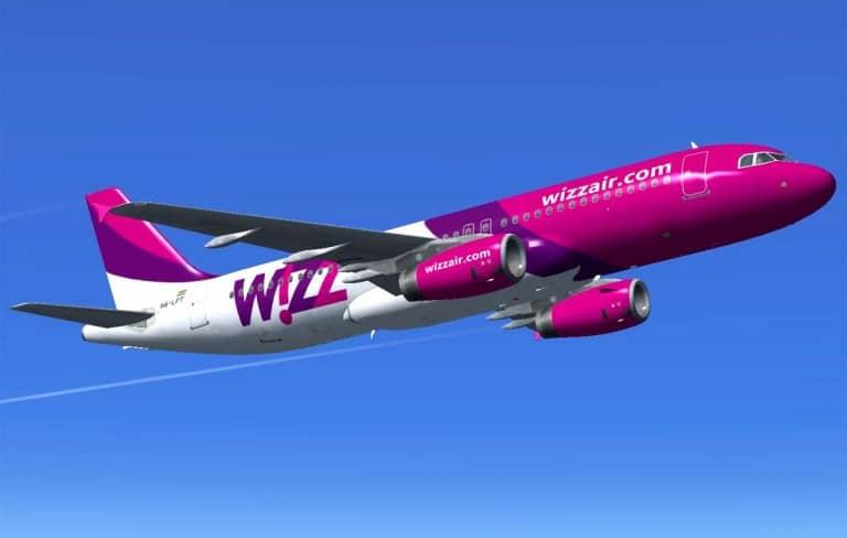 Avião Wizzair low cost