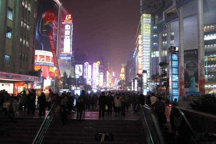 Viver em Xangai: Nanjing Road